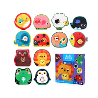 Joan Miro 美乐 拼图儿童益智男孩女孩宝宝1幼儿2-3岁大块纸质早教配对卡玩具