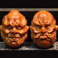 橄榄核雕十八罗汉手串 1.8橄榄胡纯手工南工名家雕刻文玩手链男