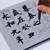行书练毛笔字帖水写布套装仿宣纸初学者书法入门