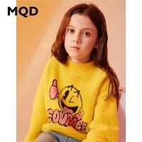 【1件3折:159】MQD童装女童加厚毛绒毛衣2019冬装新款儿童半高领保暖洋气针织衫
