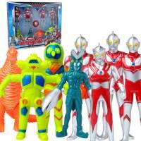 锐视 奥特曼+怪兽8个组合套装 咸蛋超人男孩儿童玩具 1115201-02组合*