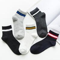 男袜条纹中筒袜百搭时尚休闲条纹中筒袜潮男士运动袜子中筒棉袜子