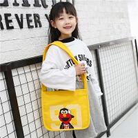 2019年新款时尚儿童帆布斜挎包单肩包韩版可爱公主女孩小斜挎包包