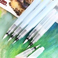 日本SAKURA樱花自来水笔储水毛笔书法笔 彩铅固体QRN水彩好伴侣QR