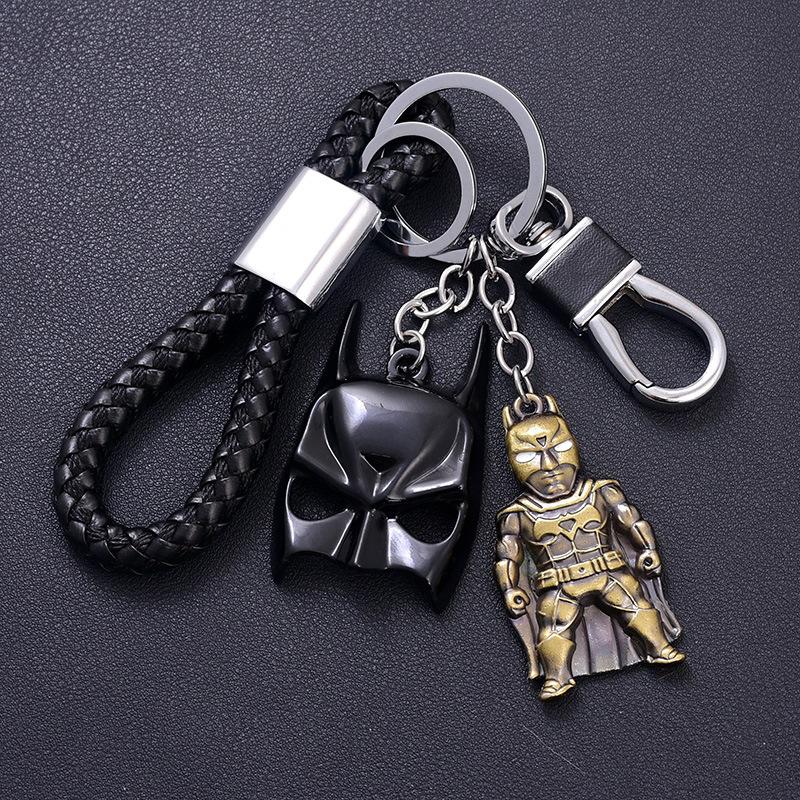 复仇者联盟钢铁侠汽车钥匙扣 男 漫威蝙蝠侠蜘蛛侠面具 挂件
