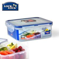 乐扣乐扣保鲜盒塑料HPL823C 870ml微波分隔格餐盒饭盒便当盒 半透明