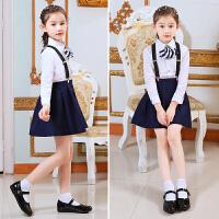 儿童皮鞋表演出花童鞋春秋小学生白色单鞋女童黑色公主鞋