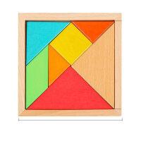 儿童智力拼图儿童古典早教启智益智小学生创意几何形状积木巧板拼板