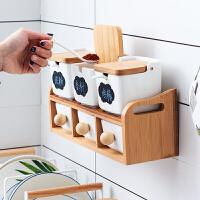 陶瓷调料罐套装家用可挂墙盐罐创意胡椒辣椒收纳盒厨房用品调味罐
