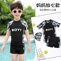 男童泳衣泳裤男孩小中大童短袖青少年游泳衣儿童分体泳衣