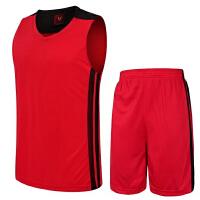 童装男女款篮球衣运动服套装 团购定制DIY可印字印号 男款透气篮球服比赛训练服