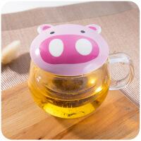茶水分离双层玻璃杯喝水杯子过滤女可爱泡茶杯网红抖音同款小