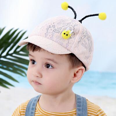 1-3岁儿童帽女婴儿鸭舌帽潮宝宝帽子薄款小蜜蜂男童棒球帽