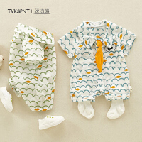 3-6个月婴儿宝宝外出服婴儿夏装连体衣男女宝宝衣服棉