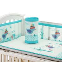 婴儿床围套件四季通用可拆洗宝宝新生儿床上用品防撞床围宝宝床帏a378zf08