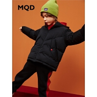 MQD童装19冬季男童加厚连帽短款棉衣中大童面包