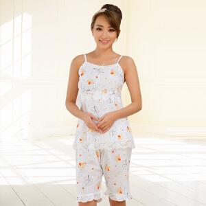 金丰田女士夏季棉质薄款吊带睡裙1358