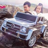 奔驰大g 儿童电动汽车四轮遥控越野双座宝宝玩具车可坐人双人小孩