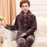 夹棉睡衣女冬季法兰绒珊瑚绒三层加厚可爱甜美长袖棉袄家居服套装
