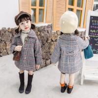 韩版女宝宝秋装毛呢风衣2019新款儿童呢大衣女童秋冬装洋气外套