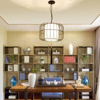 中式鸟笼吊灯餐吊灯创意餐厅灯复古中式书房间吊灯阳台茶楼吊灯具