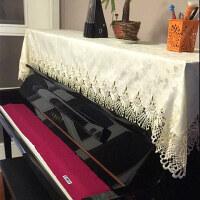高档欧式布艺钢琴罩现代简约钢琴巾半罩桌布垫电子琴防尘全罩盖布