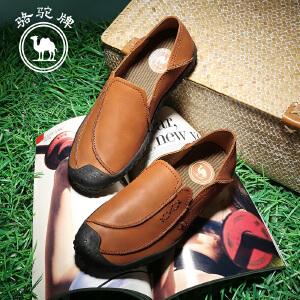 骆驼牌 春季新款 日常休闲男鞋子 套脚休闲流行鞋子 耐磨