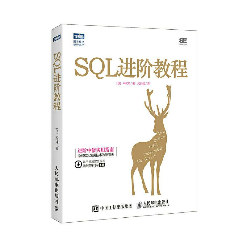 SQL进阶教程 数据库通用语言基础到进阶从入门到精通 SQL中级教程 数据开发管理经典教程