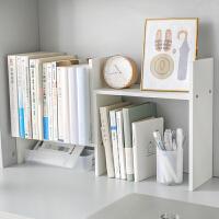 宿舍桌面书架 简易置物架 木质多功能组合柜 学生桌上收纳小书柜