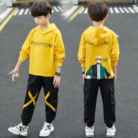 2019春秋季新款儿童装中大童男孩洋气两件套男童秋装卫衣套装