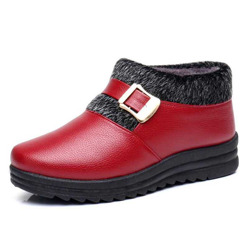 老北京布鞋女鞋冬季加绒保暖防水棉靴女中老年妈妈棉鞋老人奶奶鞋   批量拍下不发货