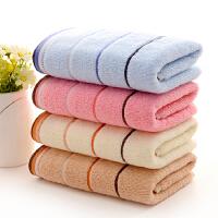 天天4�l�b 毛巾�棉加厚洗�面巾家用 男女情�H柔�吸水 白色 彩虹�l4色4�l 75x35cm