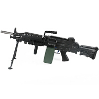 大菠萝玩具枪M249水晶弹二代下供弹连发电动绝地空投求生机关枪儿童玩具枪节日礼物男孩子六一儿童节礼物 泽桦M249二代