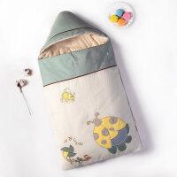 婴儿床上用品婴儿抱被秋冬加厚睡袋防惊跳新生儿包被春季抱毯宝宝用品YW28