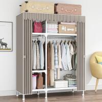 衣柜现代简约出租房挂衣柜家用经济型组装布衣柜子小户型卧室收纳