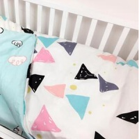 婴儿床上用品定做套件幼儿园床单被套三件套儿童被单枕套ZQ-YS017