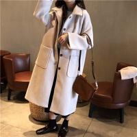 赫本呢子大衣女秋冬新款韩版小个子学生百搭显瘦中长款毛呢外套潮 均码