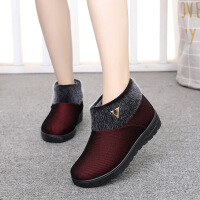 冬季老北京布鞋女棉鞋加绒保暖软底中老年奶奶短靴平跟妈妈鞋
