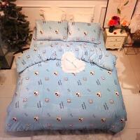 新品秋冬季保暖加厚双面珊瑚绒被套卡通水晶牛奶绒四件套床笠床上用品定制 2.0m(6.6英尺)床 床单款