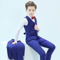 男童西装套装表演服钢琴演出服花童礼服男服装秋儿童小主持人礼服