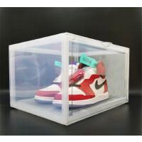 AJ收纳盒侧开球鞋收纳盒透明运动鞋篮球鞋鞋盒高帮球鞋墙yeezy收藏侧开展示鞋柜