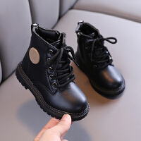 儿童马丁靴英伦风女童靴子秋冬季宝宝靴中小童皮靴男童短靴