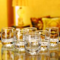 无铅玻璃烈酒杯白酒杯威士忌杯洋酒杯水杯KTV专用杯6只装