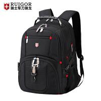 军刀双肩包男瑞士背包大容量学生书包商务旅行包电脑包