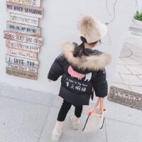 2019冬季新款儿童中长款棉袄女宝宝冬装加厚棉衣外套