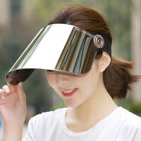 太阳帽女士夏季遮阳帽防紫外线帽子夏天电动车户外遮脸骑车防晒帽
