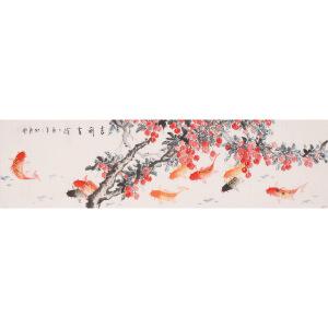 王东风《吉利有余》花鸟 大尺幅 国画 精品 装饰 送人字画的佳品