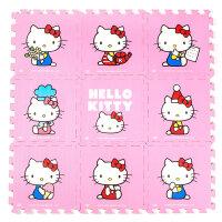 明德粉红hellokitty卡通儿童爬行垫凯蒂猫泡沫拼图地垫30*30*1�M 9片装 爬爬垫 儿童泡沫地垫
