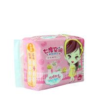 七度空间QSC6110少女系列卫生巾纯棉超薄日用透气姨妈巾10片装