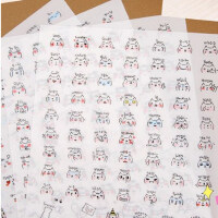 韩国创意文具萌系青蛙贴纸 小清新可爱迷你表情日记装饰贴画